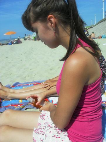 ***Toujours moi à la plage***