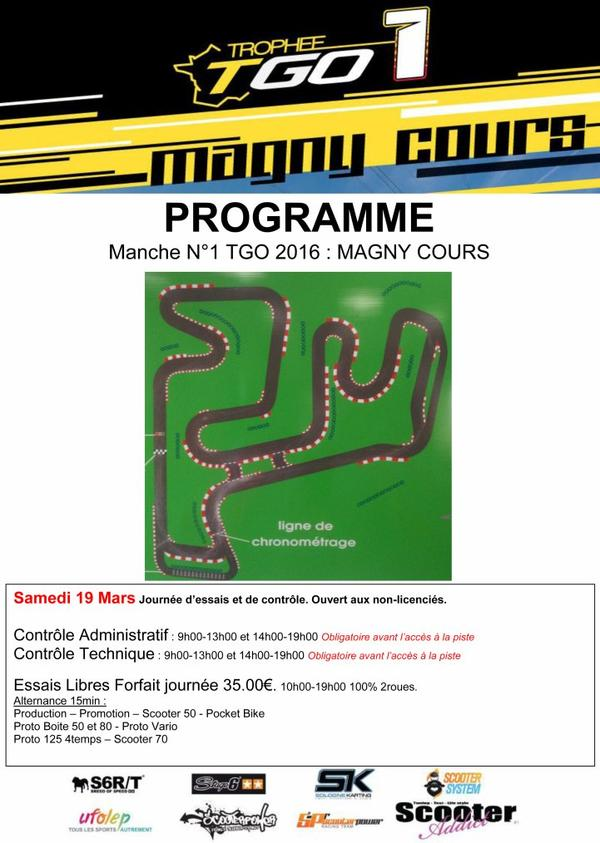 1ère Manche du Trophée Grand Ouest 2016 Magny-Cours (58470)