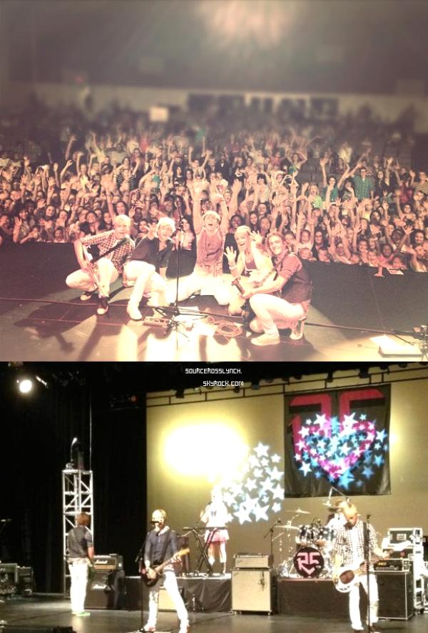 ++   19 Août .   Ross sur le set d'Austin&Ally hier + The R5 ont donnés un concert hier soir à Phoenix  +