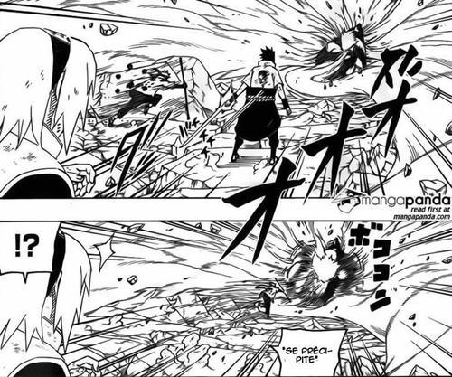 Analyse comportementale de Sasuke dans le scan 679 x)