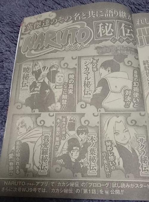 Sortie des Novel (Kakashi, Shikamaru, Sakura etc.....)