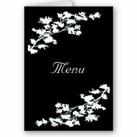 Mon menu...