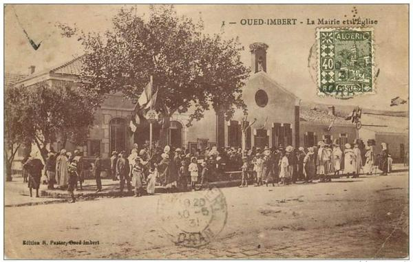 OUED IMBERT : Carte postale animée