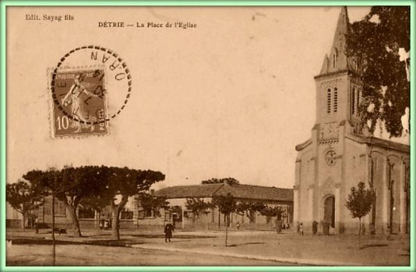 DETRIE  :  Vieille carte postale