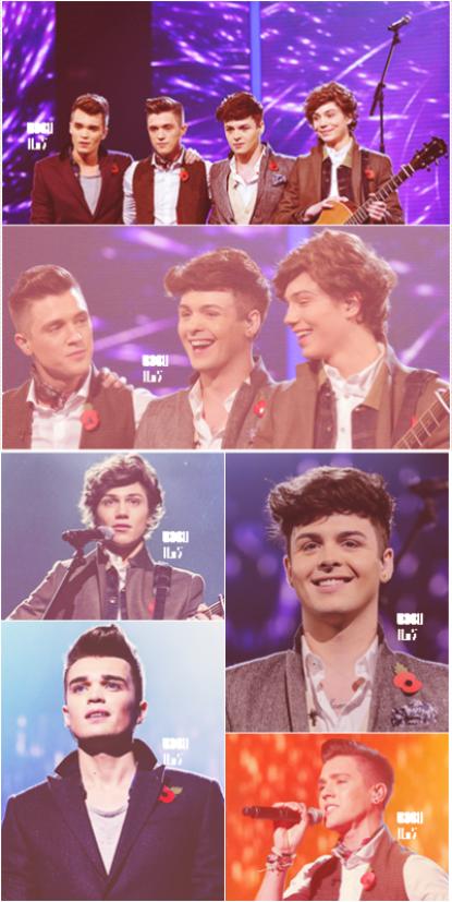 3.11.12 ; Pour la 5eme semaine sur le plateau d'X Factor; les garçons ont interprété