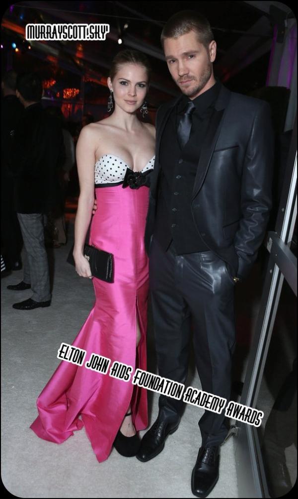 """VUE - Chad & Kenzie à l'évenement """" Elton John AIDS Foundation Academy Awards """" 24 Février 2013"""