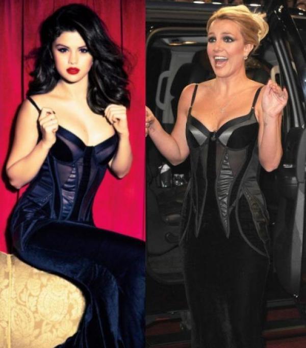 26/12/12 : Selena Gomez Vs Britney Spears, qui porte le mieux la robe noire décolletée?