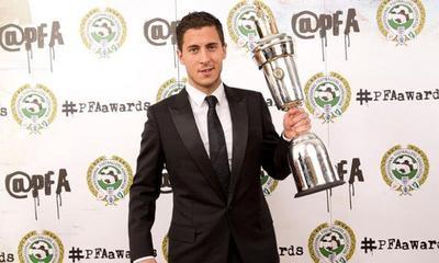 Eden Hazard élu Joueur de l'année en Angleterre