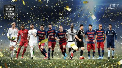 L'équipe type 2015 de l'UEFA