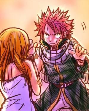 Enfoirés, levez un doigt sur Lucy et je vous transforme en cendres ! ## Natsu