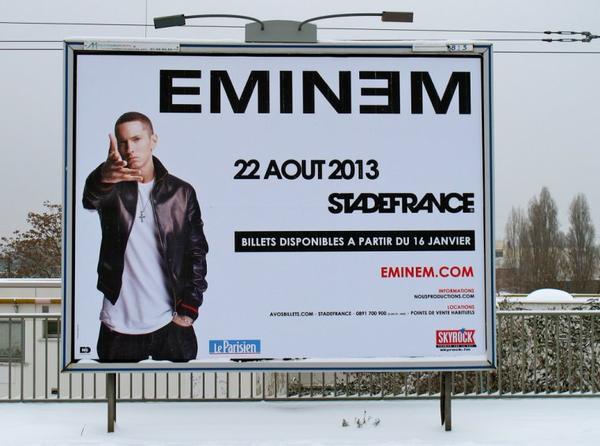 Eminem en concert avec Skyrock