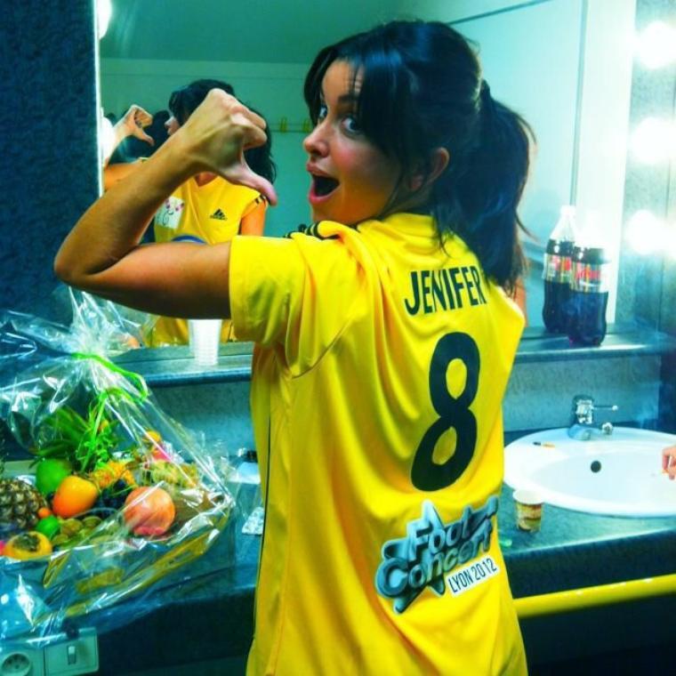 Jen au concert foot 2012 le 13 octobre