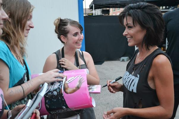 ma premiere rencontre avec Jen en coulisse .... ♥♥♥
