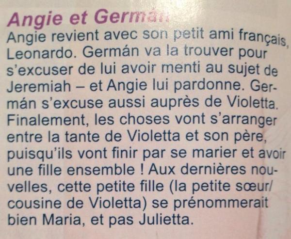 Des info sur violetta d'angie et german