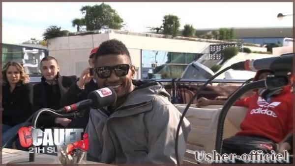 Artiiiiiicle 8:  Usher avec Cauet sur nrj a Canne : Janvier 2011