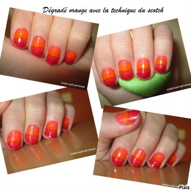 Dégradé orange