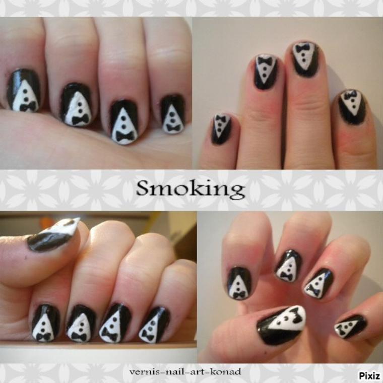 Nail Art Smoking, noeud papillon