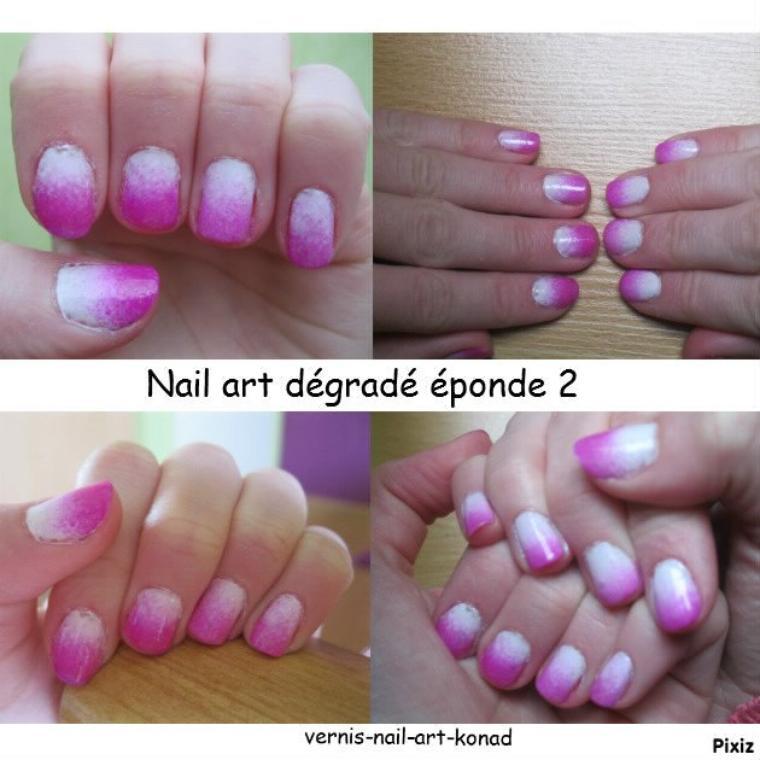 Nail Art Dégradé Eponge 2