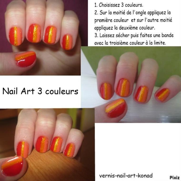 Nail Art 3 Couleurs
