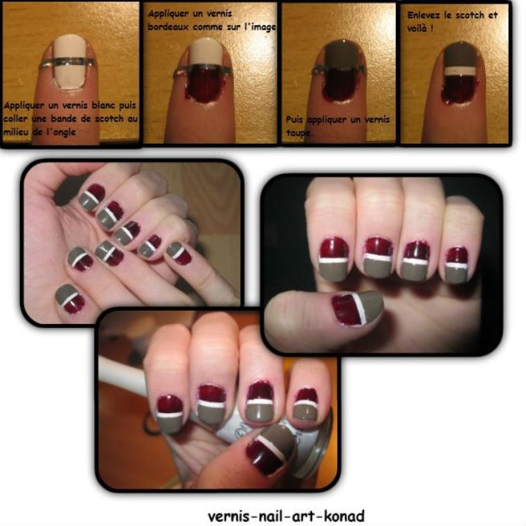 Nail Art scotch 3 couleurs