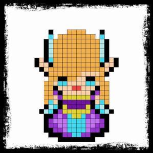 Pixel art de Zelda et Link <3
