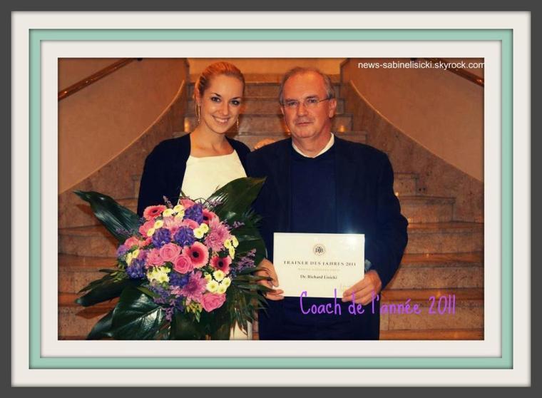 Papa de Sabine élu coach de l'année 2011 :)