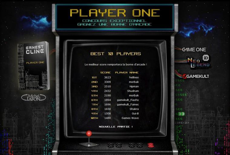 Player One : le site officiel du roman