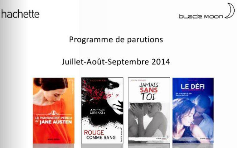 PROGRAMME BLACK MOON JUILLET - AOÛT - SEPTEMBRE 2014