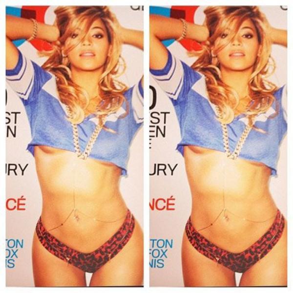 Beyoncé revient très sexy en couverture du GQ américain ,                   BEYONCÉ : UN MILLION DE DOLLARS POUR BLUE IVY !