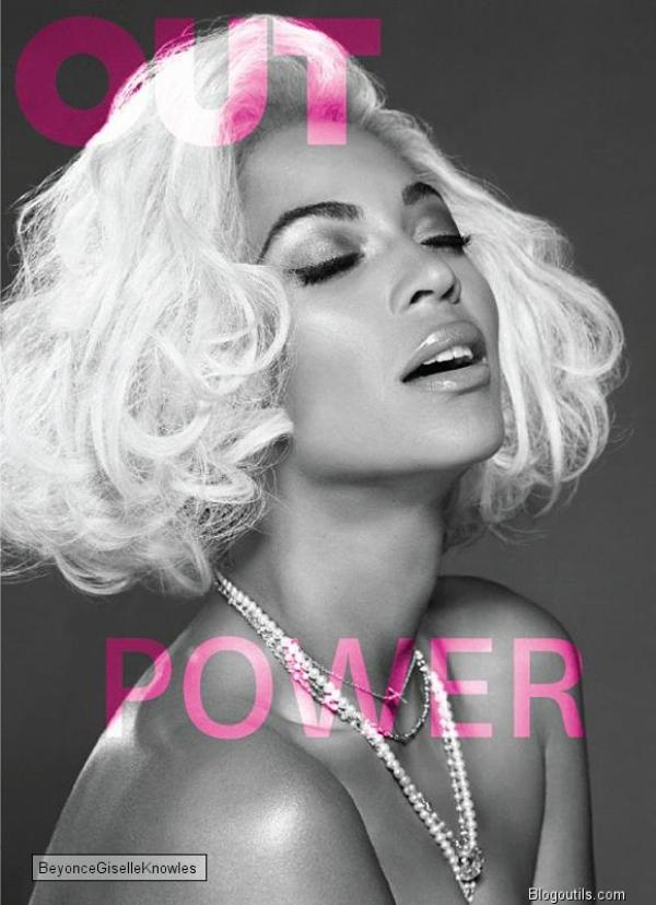 Beyoncé en couverture du magazine Out