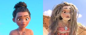 Les différentes coiffes de Vaiana