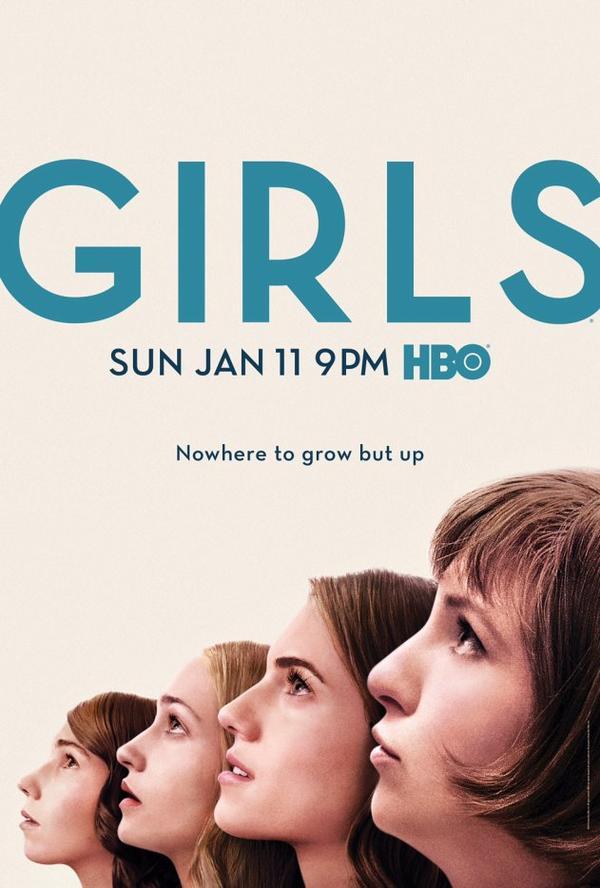 Le poster de la saison 4 de Girls vient d'être révélé ...bon j'ai rarement trouvé ces posters très jolis, trop retouchés puis les filles ont un peu l'air bêbête à regarder en l'air la bouche entre ouverte... J'espère quand même que d'autres photos promotionnelles arriveront vite; dont des avec les garçons.