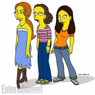"""Alors que le tournage de la saison 5 de Girls vient tout juste de commencer on apprend que les filles ( Lena Dunham, Zosia Mamet, Allison Williams et Jemima Kirke) vont se retrouver dans un épisode de la saison 27 des Simpsons qui aura pour titre: """"Every Man's Dream,"""". Attention SPOILER sur l'épisode en question : Homer rêvera qu'il a divorcé de Marge et sort désormais avec Candace (Lena Dunham). Jem et le reste du cast de Girls joueront la bande d'amie de Candace. Voici donc a quoi devrait ressembler leurs personnages version Simpsons (de gauche à droite) : Jemima Kirke, Zosia Mamet, Allison Williams, Lena Dunham"""