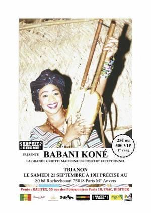 Concert de Babani Koné le 21 septembre 2013 au Trianon à Paris