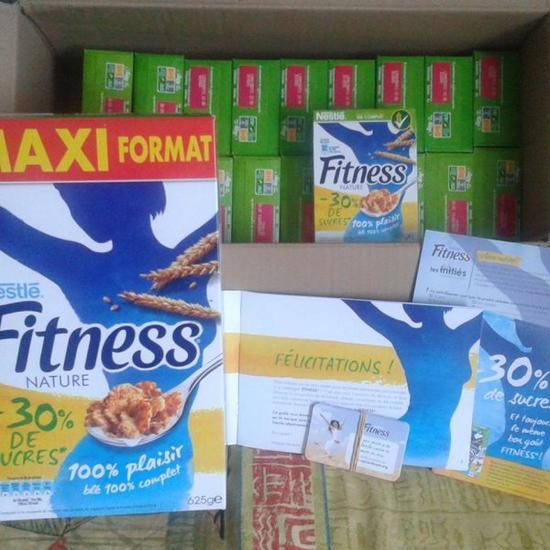 Test Nestlé Fitness -30% de sucres