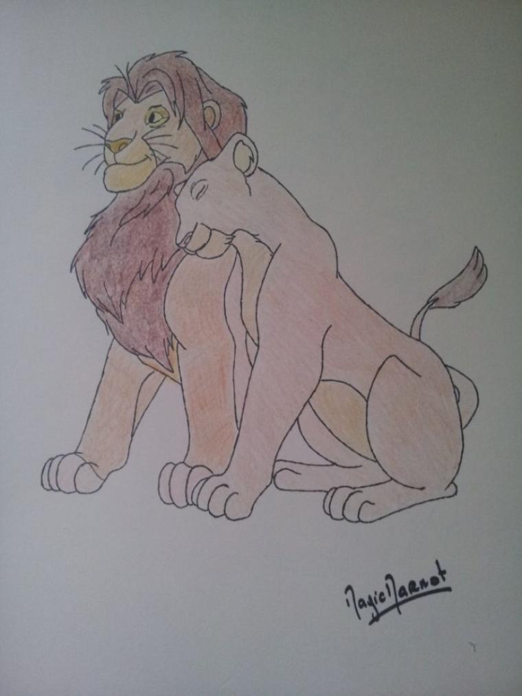 le roi lion - simba & nala