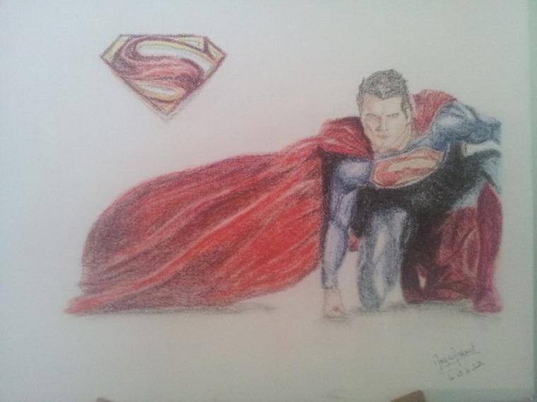 Superman - pastel