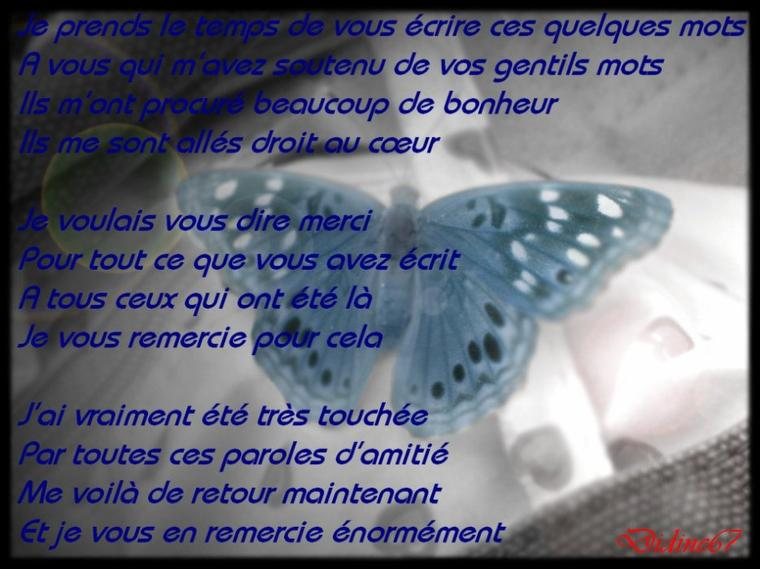 DE RETOUR PARMIS VOUS !!!!!!!!