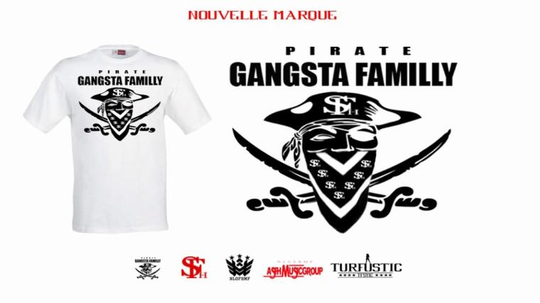 MARQUE DE LA GANGSTA FAMILLY #PIRATE