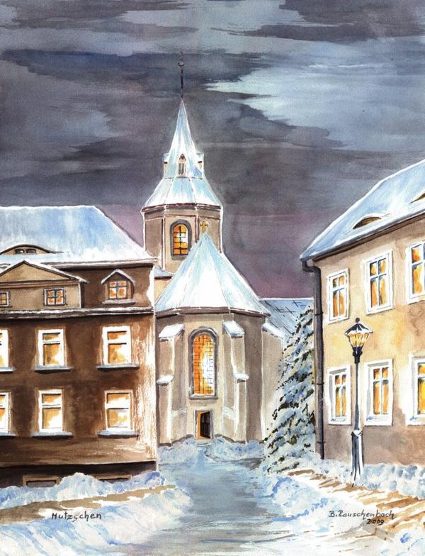 Kirche Mutzschen / Spruch der Woche