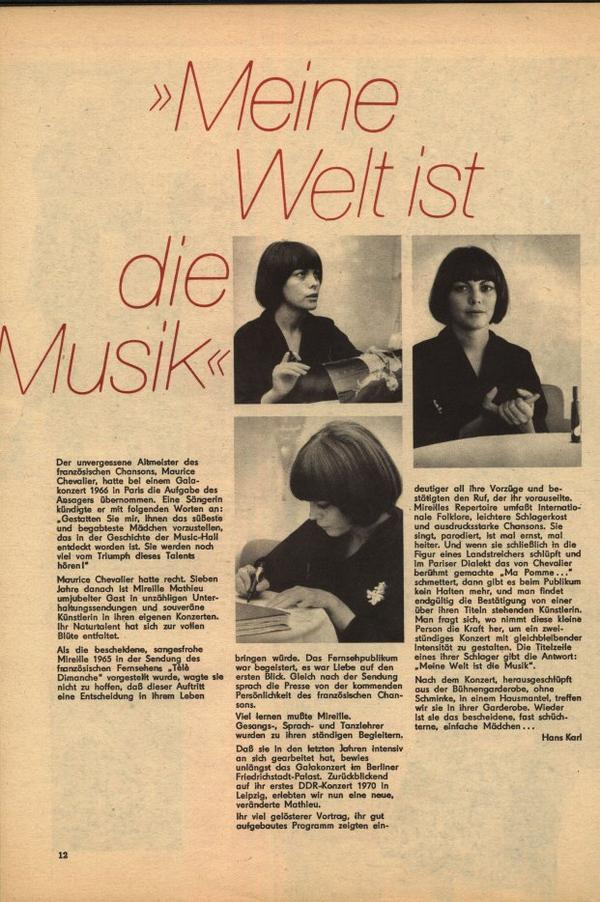 Wiederentdeckt 1  Aus der Zeitschrift  melodie und rhythmus 1 / 73