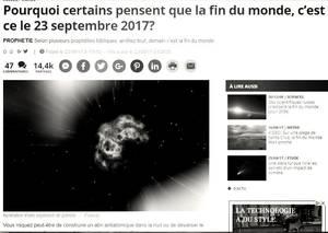 """""""La fin du monde est pour demain ! Je vous le confirmerai la semaine prochaine."""" Frédéric Deville"""