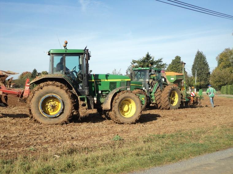 semie de blé labour