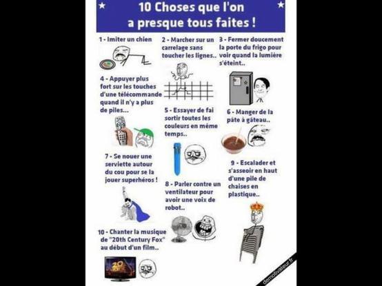 10 choses.