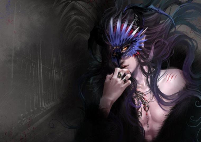 Xuaf Lunairose le chanteur masqué avec un côté corbeau de la Mort