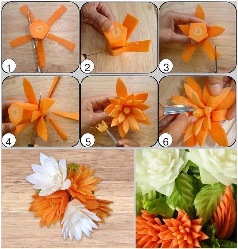 # tuto : transformer des légumes en fleurs comestibles