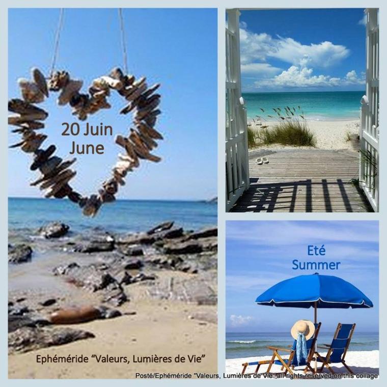 Adieu Printemps.. Bonjour Eté.Bonne journée en ce lundi 20/06 premier jour de l'été .