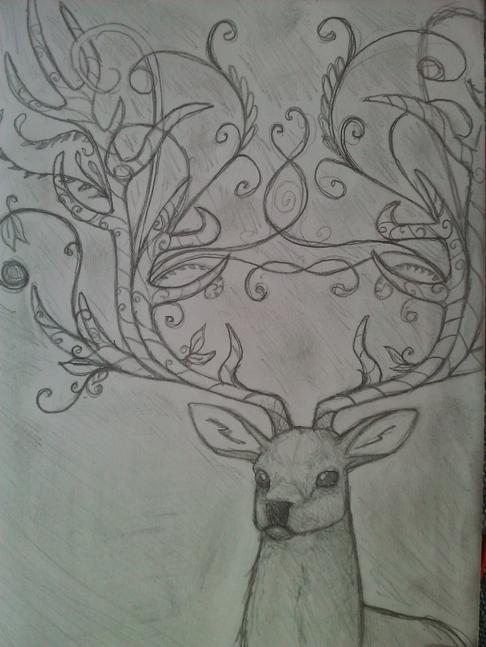 Cerf-arbre