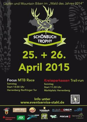 Schönbuch-Trophy 25. / 26. April 2015: TRAIL + MARATHON = T42