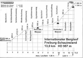 36eme édition de la Schauinsland-Berglauf: REMONTER LA PENTE